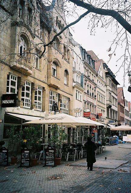 elharrypothead:   | ♕ |  Alstadt cafes in Stuttgart  | by © albany_tim | via ysvoice  Also will be going to Germany, Stuttgart for sure!