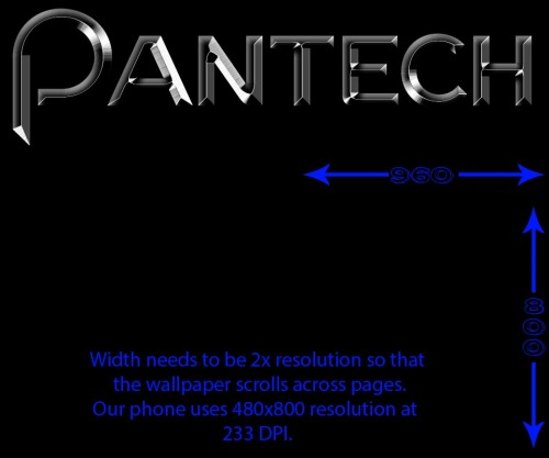 Wallpaper template for Pantech Burst/presto/p9070 by ~marduk191