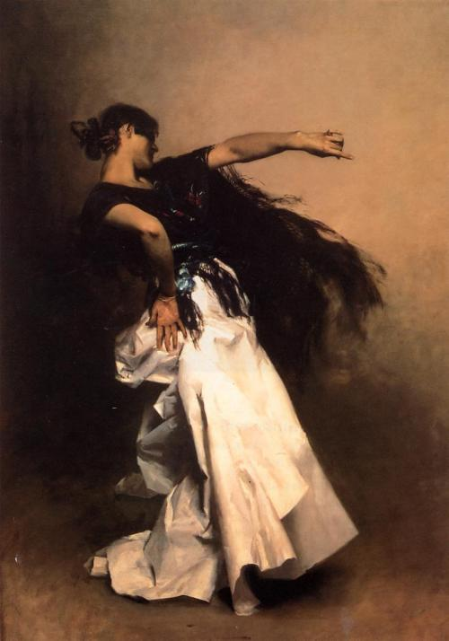 John Singer Sangert Spanish Dancer 1880 preparatory study for El Jaleo