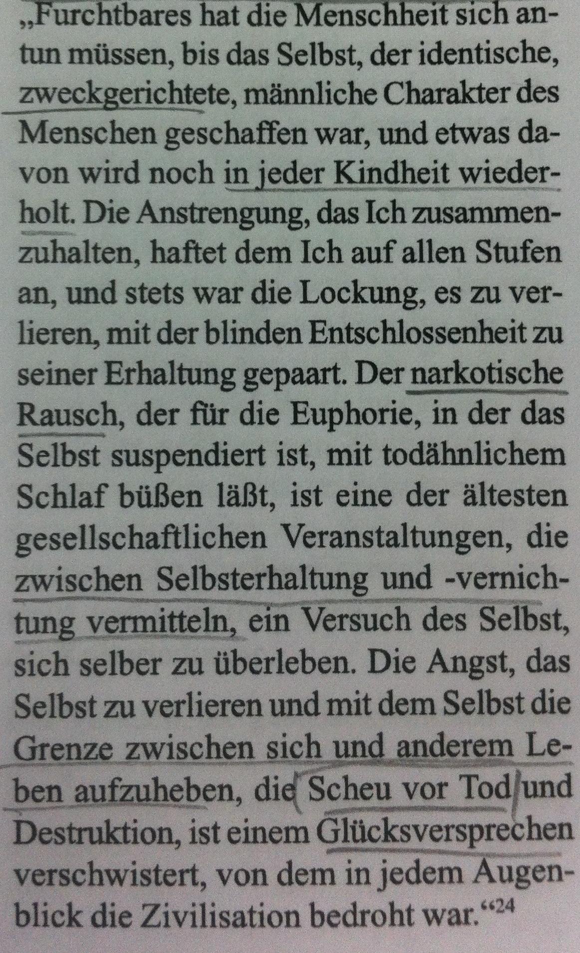 Max Horkheimer und Theodor W. Adorno: Dialektik der Aufklärung. Philosophische Fragmente. Frankfurt am Main 1993, S. 40. [via abgrundtiefe]