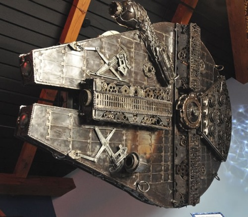 Millennium Falcon Made from Car Parts