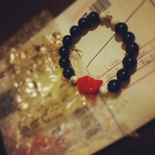 @thee_ill3sts ahh too excited! (: #bracelet finally came in<3 & the one I wanted too! thank you @fckyeahcambodia  I really appreciate it!    :') YAYAYAY <333As featured in @fashionoverhype, check out more similar stuff hereeee! :D