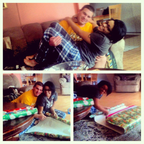 Wrapping gifts with my bf Daniel