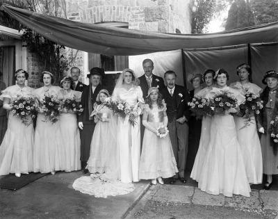 Grattan-Bellew & Loftus Wedding at Mount Loftus by National Library of Ireland on The Commons on Flickr.Must say: the bridesmaids dresses are way prettier