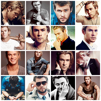 Chris Hemsworth - 60 photo shoot icons @ citadel-icons. This is also my 555th update! Yaaay. :D