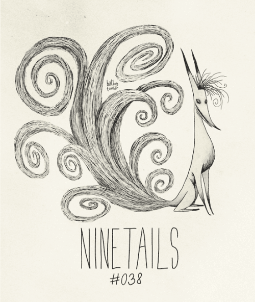 hatboy:  Ninetails #037 Part of The Tim Burton x PKMN Project By Vaughn Pinpin