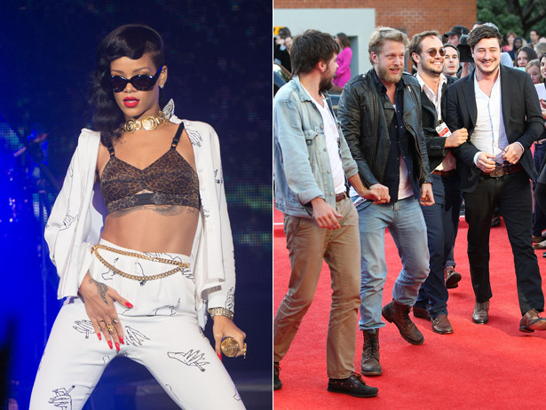 Rihanna and Mumford and Sons will headline Scotland's T in the Park 2013.  Yes please.