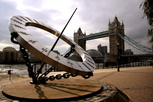 Sights in the City we love: the sundial right outside of St. Katherine's Dock. London