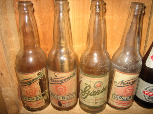 Narragansett soda bottles. Sold before and during prohibition. Another product that helped the brewery survive prohibition.