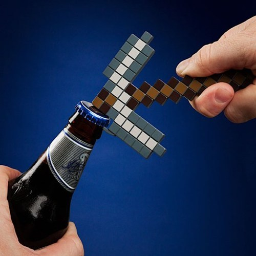 Awesome ThinkGeek gift of the day: Minecraft pick bottle opener This officially licensed Minecraft bottle opener is the perfect thing to crack open a cold one after a long day of digging pixels. Product link