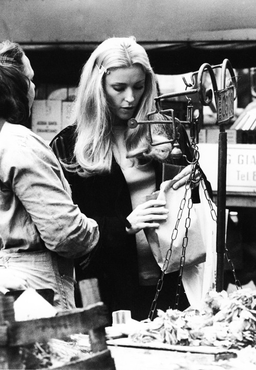 lovesharontate:  Sharon Tate at a market in Italy