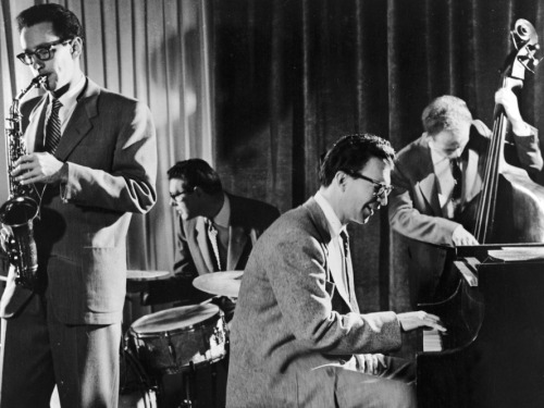 "nprmusic:  Just one day shy of 92, David Brubeck has died. We are working on a proper obit for the jazz pianist, but the meantime, download a one-hour documentary on the man who made ""Take Five"" and ""Blue Rondo a la Turk"" such enduring standards. Photo: Hulton Archive/Getty Images  I can report that everyone in Carnegie Hall last night thought of Brubeck and smiled for a moment when Chucho Valdés ever so briefly quoted Take Five."