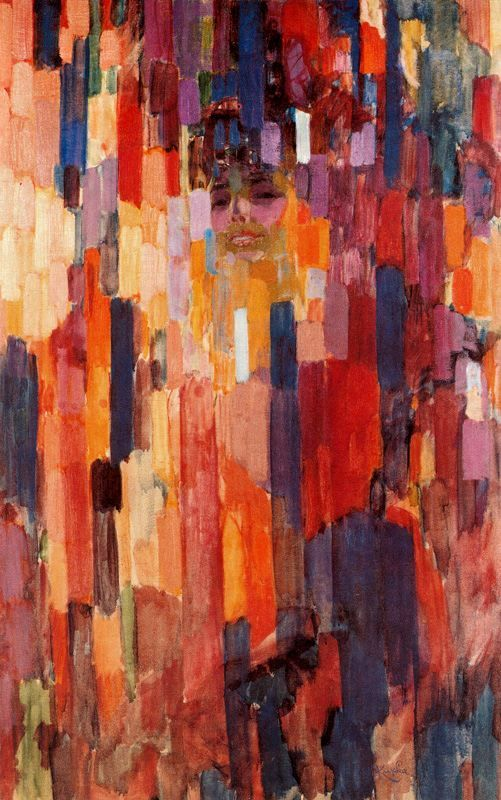 denisforkas:  František Kupka - Madame Kupka between Verticals. 1911