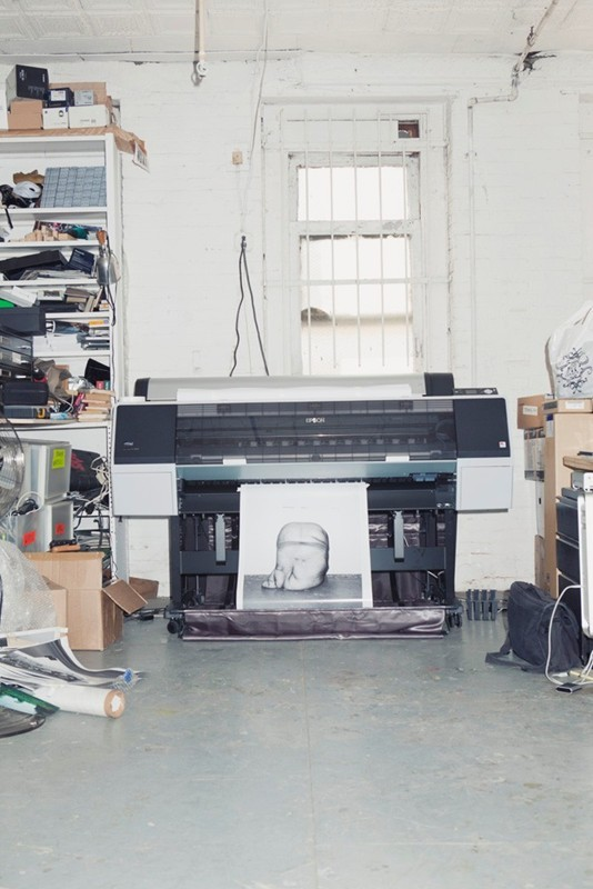 christopherschreck:  studio visit with Asger Carlsen at Dazed Digital, shot by Frankie Nazardo