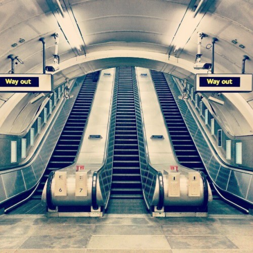Never Seen It So Empty… #Wow #Tube #Station #Stop #WayOut #Exit #Escalators #Staircase #Stairway #Design #Reflection #Empty #London #City #Transport #Shopping #InstaHub #InstagramHub #InstaDaily #PicOfTheDay #Photography #PhotoOfTheDay #Love #Underground #Tunnel