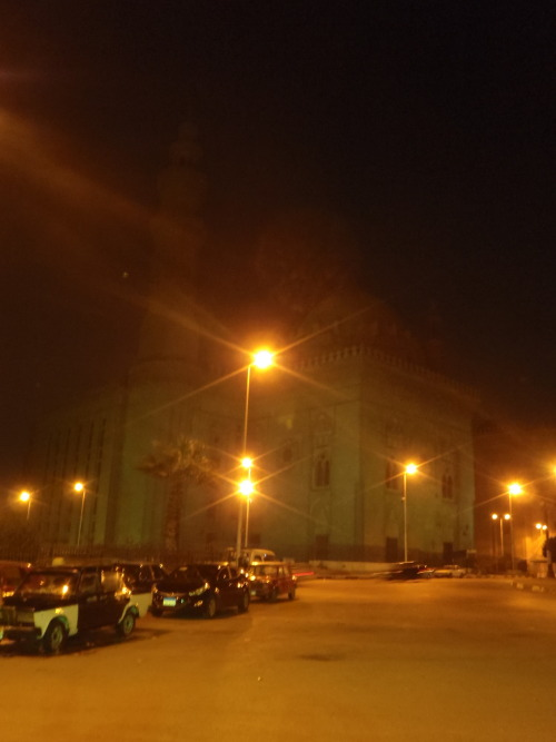 Sultan Hassan Mosque at night