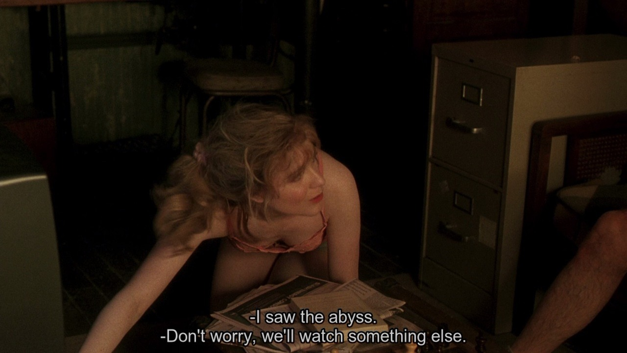 "Whatever Works (Woody Allen 2009) ""Our refinement of the abyss: to oblige us to ask ourselves whether, in truth, we are falling."" Pierre-Albert Jourdan, Fragments (trans. John Taylor)"