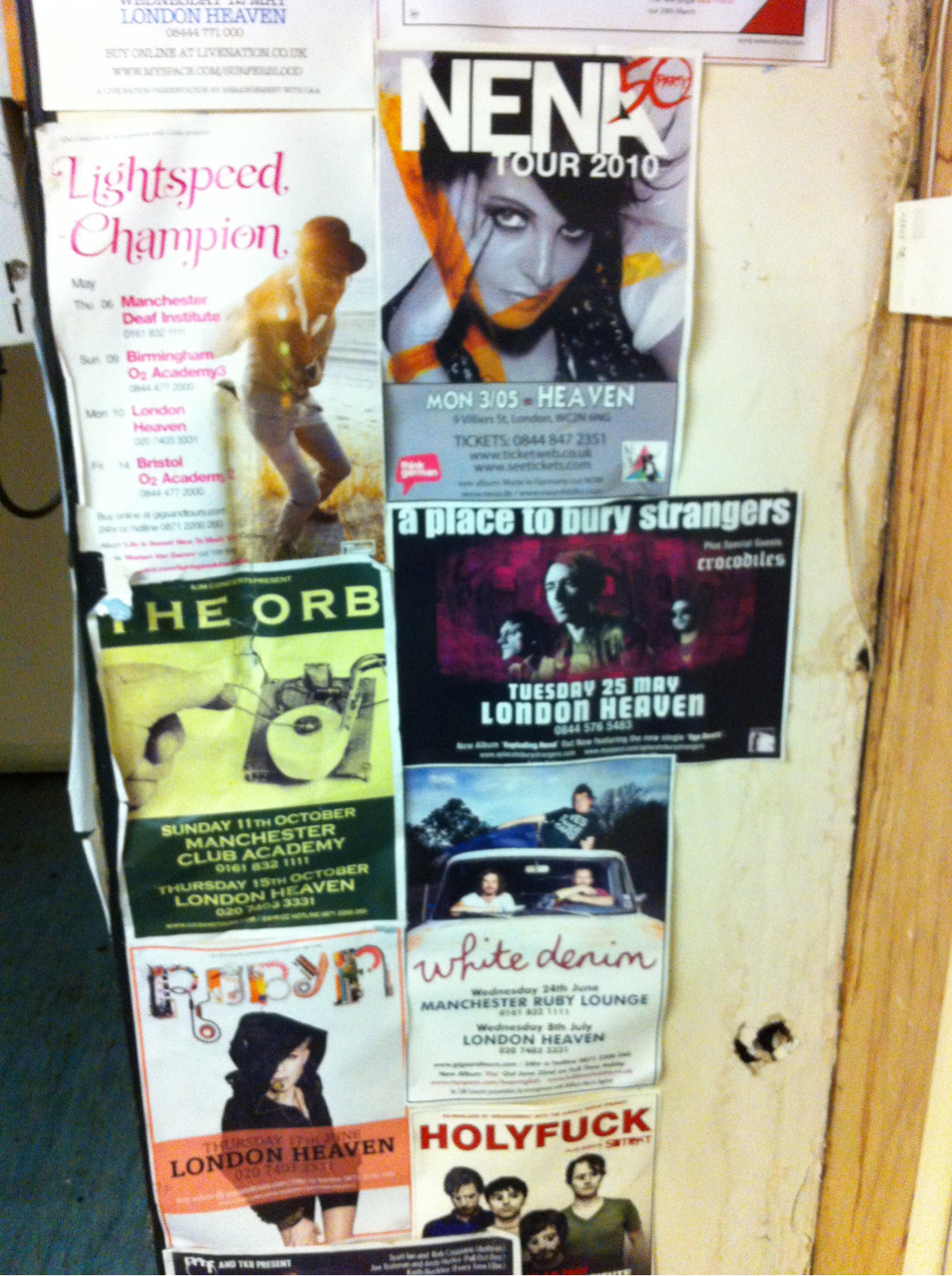 Sweet backstage posters at Heaven