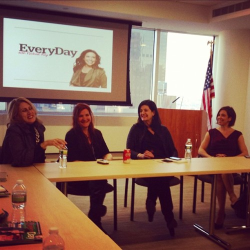 The lovely ladies of Every Day with Rachael Ray chatting with New York University Publishing students at our New York Office. (Left to right) Publisher, Christine Guilfoyle, Creative Director, Jill Armus, Editor-in-Chief, Lauren Purcell and Executive Editor, Dana Bowen.