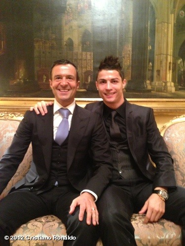 With Jorge before the award ceremonyView more Cristiano Ronaldo on WhoSay