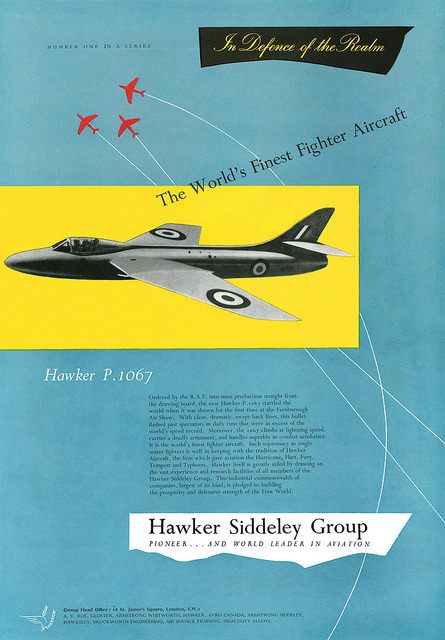 Hawker Siddeley P.1067 advertisement. by totallymystified on Flickr.