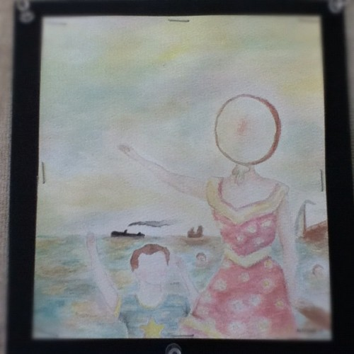 neutral milk hotel painting i finally finished