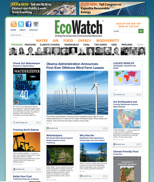 EcoWatch Partners with RebelMouse to Amplify Its Reach, Impact and Engagement http://ecowatch.org/2012/ecowatch-partners-rebelmouse/
