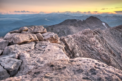From the summit of Mt Evans. Looking down on South Park, Colorado