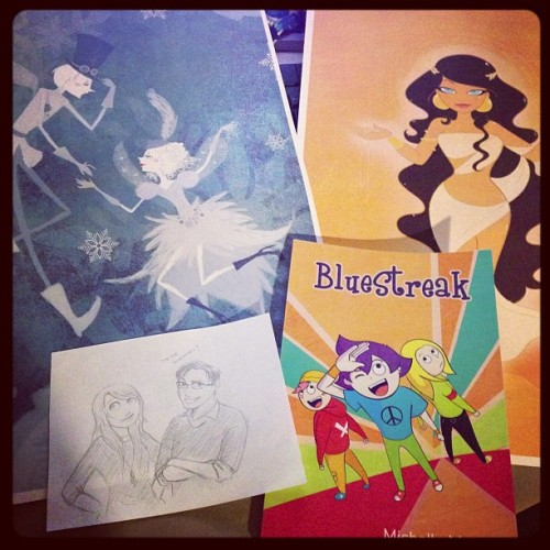 tamtu:  Happy Sinterklaas to me with awesome art AND the #BlueStreak graphic novel from @enchantma :D You're the best!  YOU'RE the best, TamTu! Thank you so much!