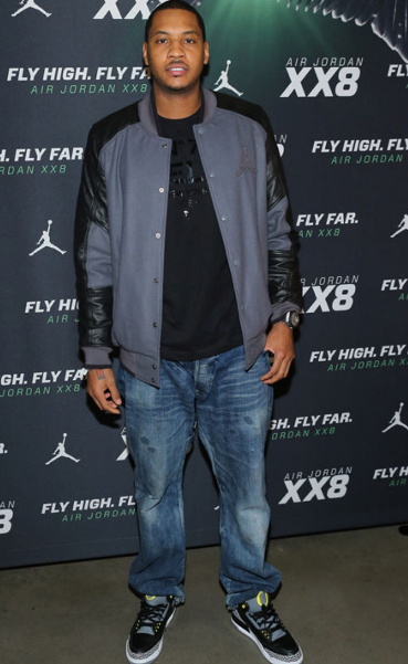 Oregon Pit Crew: Carmelo Anthony Rocks 'Oregon Pit Crew 3's' at Shoe Release Party NBA superstar and New York Knicks forward Carmelo Anthony was seen rocking these Air Jordan IIIs at a shoe release party. Look familiar? Of course, they are the famed shoes of your beloved Oregon Pit Crew. Let us not forget that Carmelo Anthony was also on the field at an Oregon Football game last season. For those of you not yet convinced, the term #NationalBrand may be appropriate for the University of Oregon. #GoDucks #NationalBrand