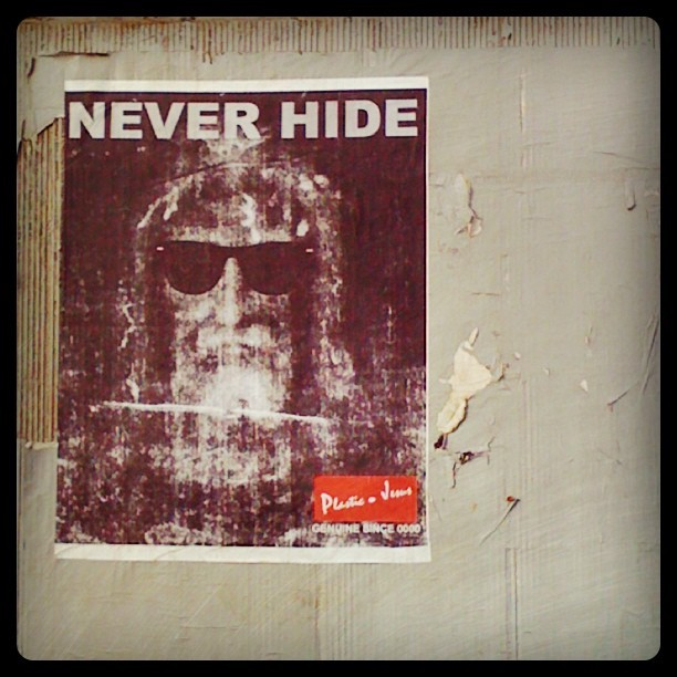 Starts from the left #NeverHide #PlasticJesus #documenting #culture #la #Hollywood #wheatepaste #streetart