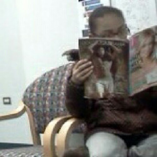 Like she really know whats in the magazine… :)