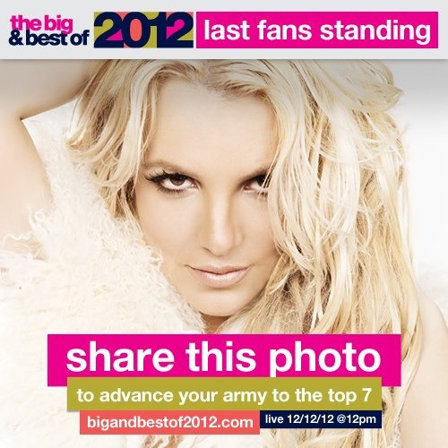 outrageouslybritney:  Guys make sure The Britney Army is crowned the best fans of 2012!! Share this photo from MTV on facebook or visit bigandbestof2012.com :)  CLICK THIS LINK AND CLICK BRIT'S PICTURE AND CLICK SHARE!!!!