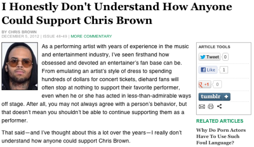 Full Commentary by Chris Brown — theonion