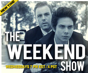 The Weekend Show LIVE! Catch Cameron & Brent The Weekend Show LIVE later tonight from the Stickam Studios in Meltdown Comics starting at 4PM PST / 7PM EST!  If you missed last week's episode with special guest Stalker Sarah catch up by clicking here!