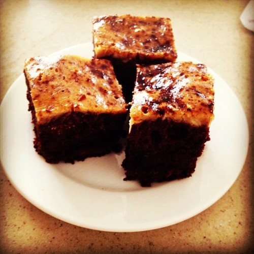 Chocolate chip, cream cheese and espresso brownies (at Hale Ala Wai)