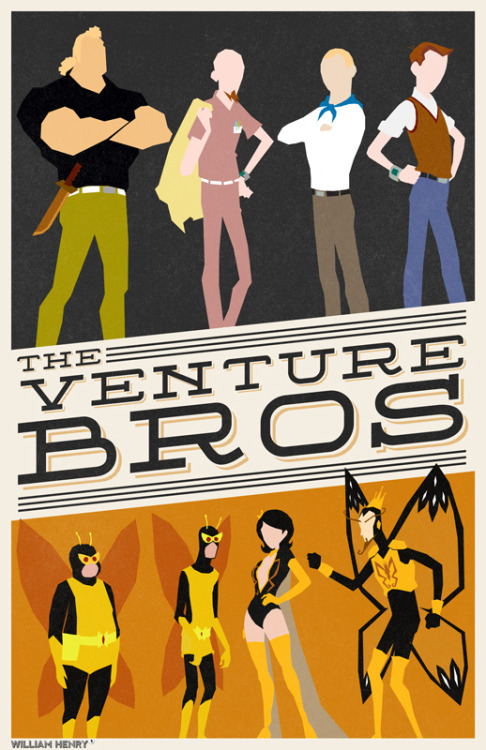 fuckyeahmovieposters:  The Venture Bros by William Henry