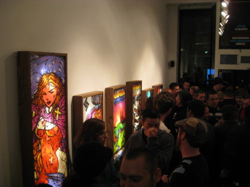 Picture from the ANSI exhibition at 20 goto 10, 2008. ACiD. Photo by Sara Golemon.