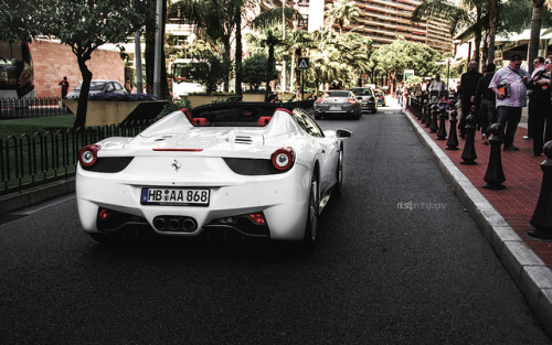 Italia in Monaco! on Flickr.Via Flickr: Ferrari 458 Italia Spyder in Monte Carlo, Monaco 2012 Top Marques, April 2012Like me on Facebook
