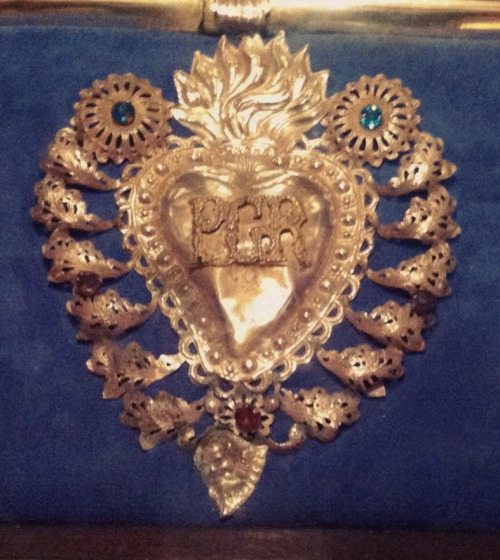 A silver votive heart in the basilica of Our Lady of Victory in Senglea, Malta.