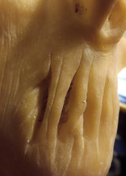 Sneaky look at my new prosthetic all cleaned and latexed up, done in a day… BOOM! :D :D :D xxxxx