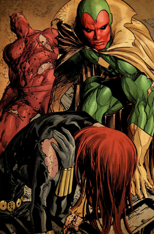Daredevil, Vision and the Black Widow By Mike Deodato Jr.