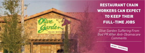 Badmouthing Obamacare ends badly for Olive Garden.
