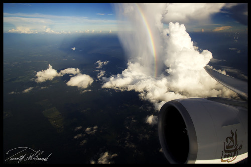 Cool pic of a rainbow inside a shaft of virga.