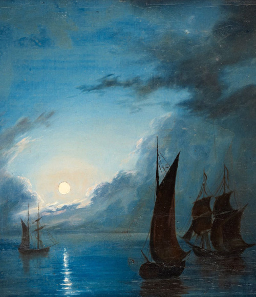 jaded-mandarin:  Sea In The Moonlight - Marcus Larson. Detail.