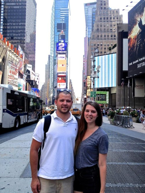 In July, I took my friend Chris to see Time's Square for (his) first time.