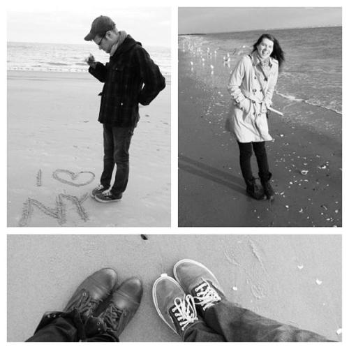 Jason and I went to Brighton Beach (Coney Island) last January (almost a year ago!) This area has since been seriously affected by Hurricane Sandy. It's one of my favorite pictures and it's almost been a year since we took it.