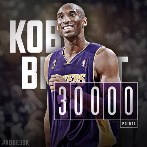 Mr 30,000 #kobe #bryant #lakers