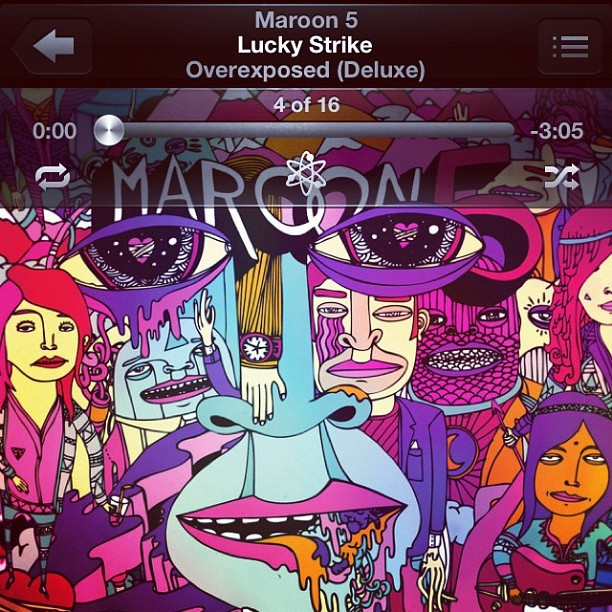 Mah Lucky Strike 💜🎧 • #maroon5 #music #dance #love