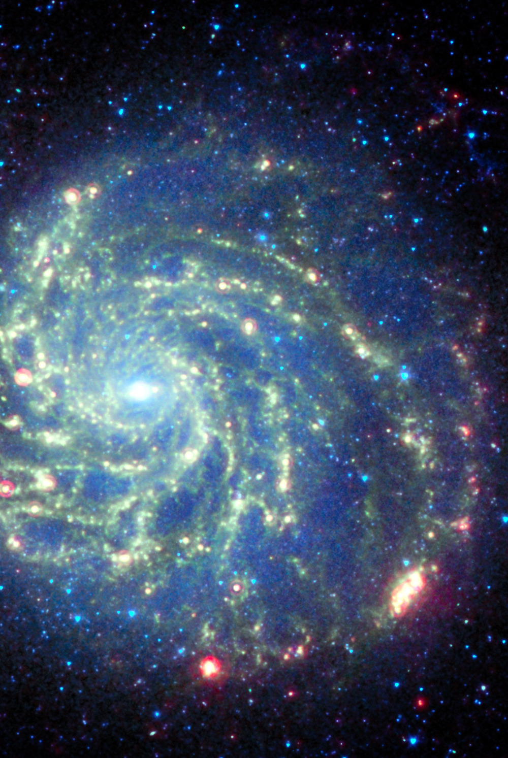 stellar-indulgence:  Spitzer Space Telescope's View of Galaxy Messier 101